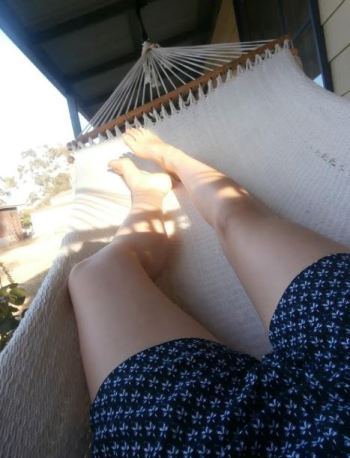 Doesn't get any better than relaxing in a hammock in the summer evenings!